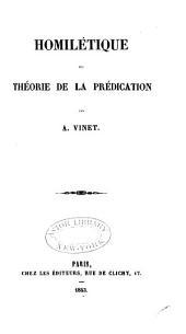 Homilétique: ou, Theorie de la prédication