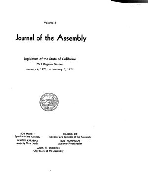 Journal of the Assembly  Legislature of the State of California PDF
