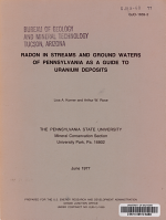 Radon in Streams and Ground Waters of Pennsylvania as a Guide to Uranium Deposits