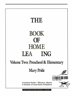 The Big Book of Home Learning PDF