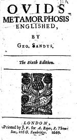 Ovids Metamorphosis Englished. By G. Sandys. The Fourth Edition. MS. Notes by J. Mitford