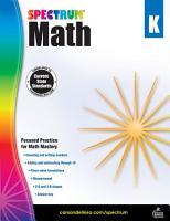 Spectrum Math Workbook Grade K
