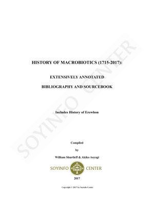 History of Macrobiotics  1715 2017