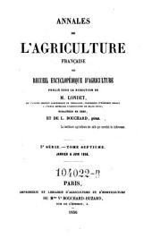 Annales de l'agriculture francoise. Red. par ... Tessier: Volume5;Volume7
