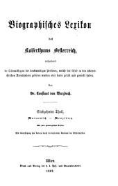 Biographisches lexikon des kaiserthums Oesterreich, enthaltend die lebensskizzen der denkwürdigen perosnen, welche seit 1750 in den österreichischen kronländern geboren wurden oder darin gelebt und gewirkt haben: Band 17