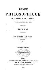 Revue philosophique de la France et de l'étranger: Volume21