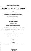 Bibliographisch statistische   bersicht der Literatur des   sterreichischen Kaiserstaates  vom 1 Jaenner  1853 bis 31 December 1855  PDF