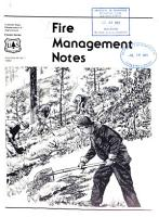Fire Management Notes PDF
