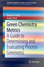 Green Chemistry Metrics PDF