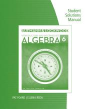 Student Solutions Manual for Aufmann/Lockwood's Introductory and Intermediate Algebra: An Applied Approach, 6th: Edition 6