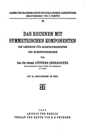 Das Rechnen mit symmetrischen Komponenten