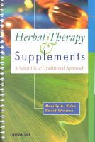 Herbal Therapy and Supplements PDF