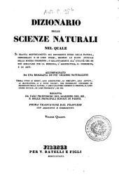 Dizionario delle scienze naturali nel quale si tratta metodicamente dei differenti esseri della natura, ... accompagnato da una biografia de' piu celebri naturalisti, opera utile ai medici, agli agricoltori, ai mercanti, agli artisti, ai manifattori, ...: 4: BOA-CAM.
