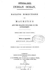 Indian ocean. Sailing directions for Mauritius and the islands included in its government