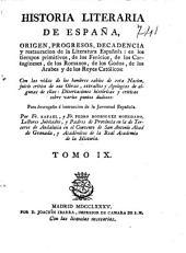 Historia literaria de España ...