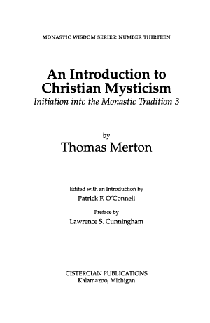 An Introduction to Christian Mysticism PDF