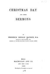 Christmas Day: And Other Sermons