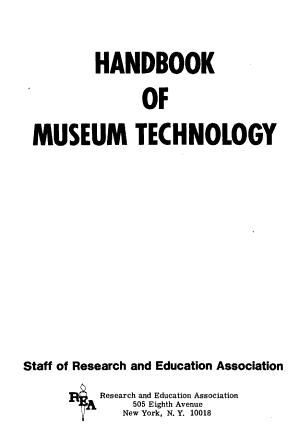 Handbook of Museum Technology PDF