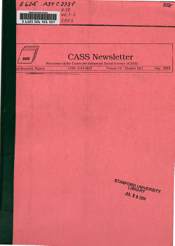 CASS Newsletter PDF