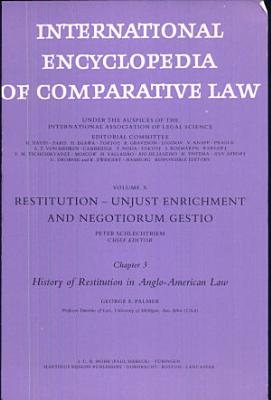 history of restitution in anglo american law