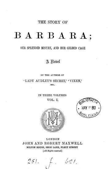 The story of Barbara  by the author of  Lady Audley s secret   PDF