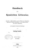 Handbuch der spanischen Litteratur  Bd  Das Drama  1856 PDF