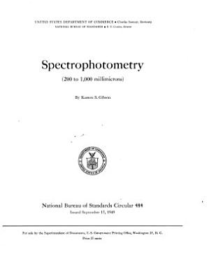 Spectrophotometry  200 to 1 000 Millimicrons
