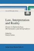 Law  Interpretation and Reality PDF