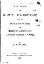 Handbook of brewing calculations