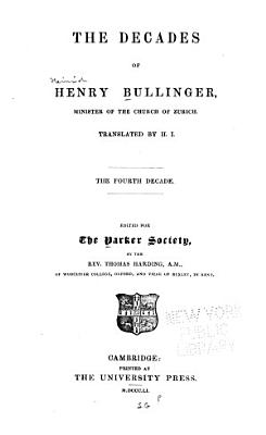 The Decades of Henry Bullinger