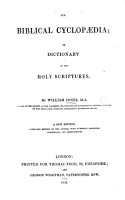 The Biblical Cyclop  dia  or dictionary of the Holy Scriptures  etc PDF