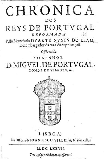 Primeira parte das Chronicas dos Reis de Portugal  etc PDF