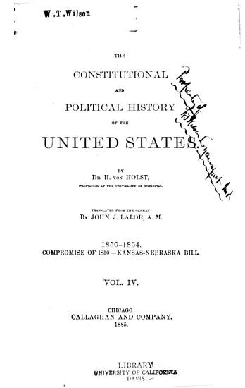 The Constitutional and Political History of the United States PDF