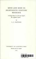 Mind and Body in Eighteenth Century Medicine PDF