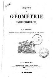 Leçons de géométrie industrielle par L. L. Vincenot
