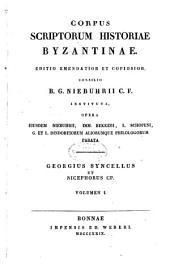 Corpus scriptorum historiae byzantinae: Volume 22