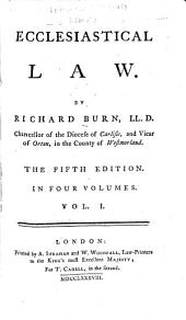 Ecclesiastical Law: Volume 1