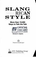 Slang American Style PDF
