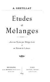 Études et mélanges