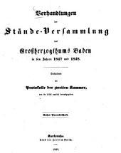 Verhandlungen der Stände-Versammlung des Großherzogtums Baden: vom Landtage .... 1847/49,1/3