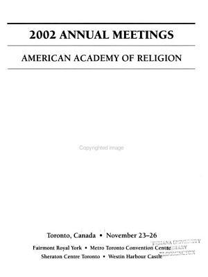 AAR/SBL Annual Meeting Program