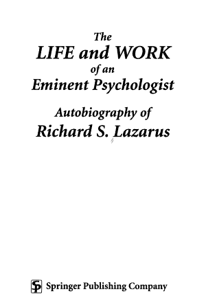 The Life and Work of an Eminent Psychologist