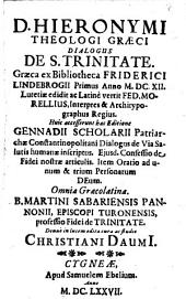 Dialogus de S. Trinitate
