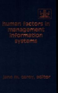 Human Factors in Management Information Systems Book