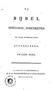 De bybel  vertaald  omschreeven en door aanmerkingen opgehelderd PDF