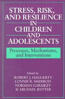 Stress  Risk  and Resilience in Children and Adolescents PDF