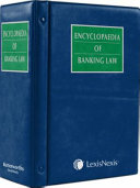 Encyclopaedia Of Banking Law