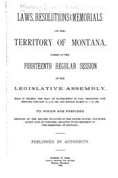 Acts, Resolutions and Memorials of the Territory of Montana