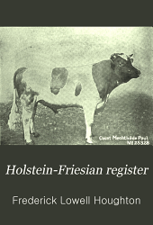 Holstein-Friesian Register: Volume 17