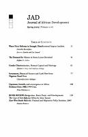Journal of African Development PDF